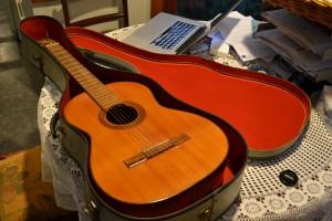 My guitar in its case