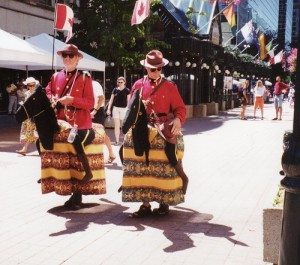 Just to put you in the mood, a couple of Ontario Mounties on their magnificent steeds.