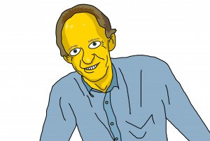David as Simpsons character