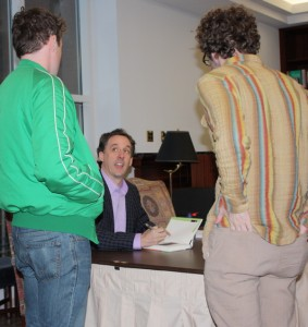 John Warner at a book signing - couldn't find one of the back of his head.