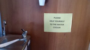 I'm sure Rob Waller would enjoy this sign in the waiting room of our local doctor.