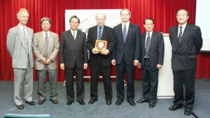 Honoured again! Tony Bates at HKOU.
